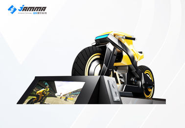 9D Virtual Reality Motorcycle Racing Simulator 3 Exclusives Games Black Yellow 24'' Monitor