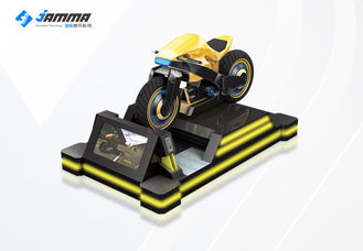 China 9D Virtual Reality Motorcycle Racing Simulator 3 Exclusives Games Black Yellow 24'' Monitor supplier