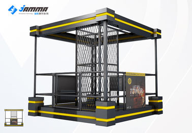 Black Yellow Virtual Shooting Simulator Theme Park Equipment With 2 Handles