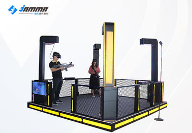 Automatic Lift Virtual Reality Simulator 4 Players 9D Gun Shooting Game
