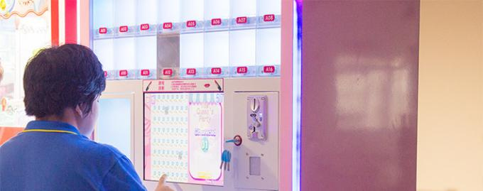 Lipstick Makeup Vending Machine With Three Levels RGB LED 220V Black Pink 3